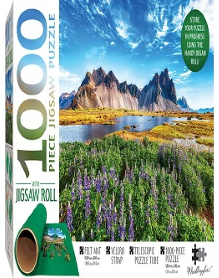 Jigsaw Roll with 1000-Piece Puzzle: Stokksnes Cape, Iceland