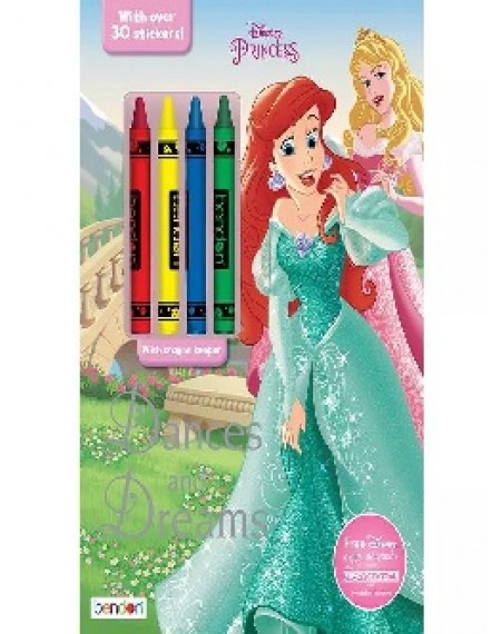 Coloring And Activity Book With Crayons : Princess