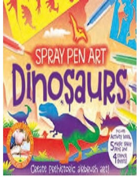 Activity Gift Box : Dinosaurs Spray Pen Art